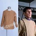 Star Trek Motion Picture Спока Кирк Коричневая Куртка Замши Пальто Униформа