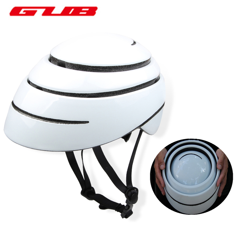 GUB Foldable City Leisure Road Bicycle Helmet EPS+ PC Casco Ciclismo Outdoor Sports Riding Cycling Folding Bike Helmet Sky Blue gub k90 outdoor bike bicycle cycling epu helmet gray