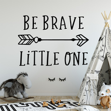 NEW Be Brave Wall Mural Removable Decal For Living Room Bedroom Background Art Decorative Stickers