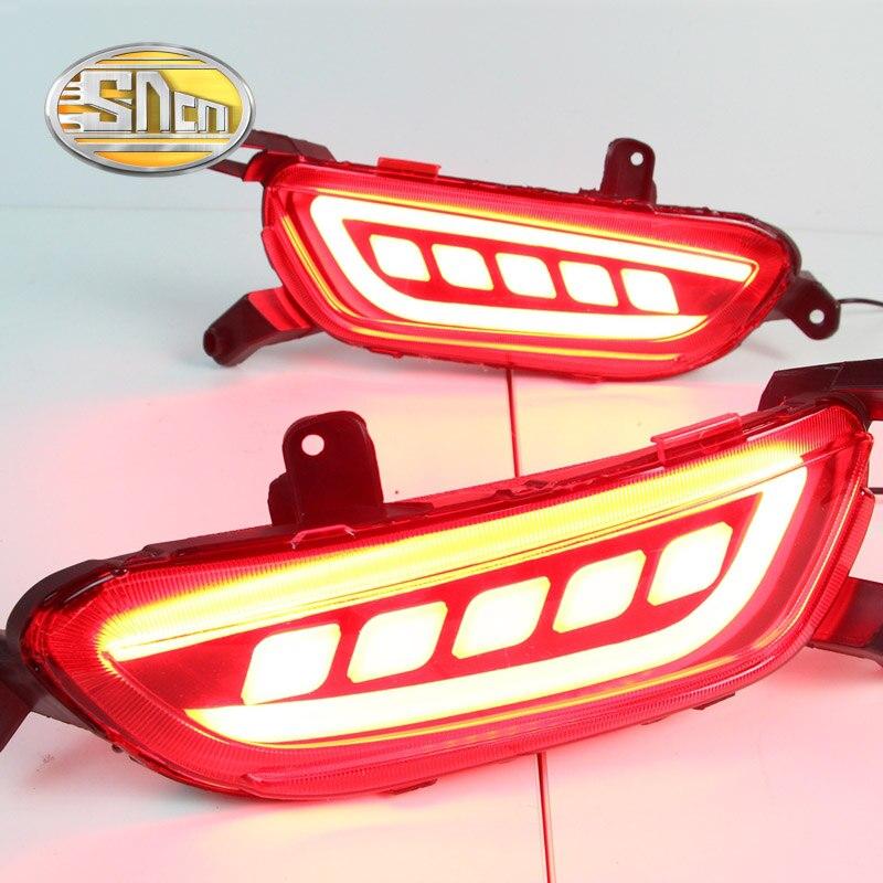 SNCN Multi-function LED Reflector Lamp Rear Fog Lamp Rear Bumper Light Brake Light For Mazda CX-3 CX3 2016 2017 2018 osmrk led rear bumper light brake lamp driving light night running lamp for mazda cx 5 2012 16