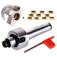 Novo Mt3-Fmb22-M12 shank 400r 50-22 rosto fresa cnc cortador + 10 peças apmt1604 inserções para ferramenta elétrica