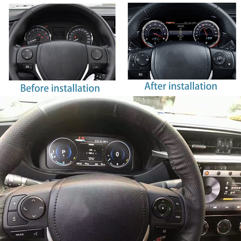 LiisLee Instrument Panel Replacement Dashboard Entertainment Intelligent System for Toyota Corolla E170 2013~2018 (2)