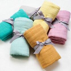 Muslinlife Новорожденный ребенок хлопчатобумажное одеяльце пеленка одеяла печатных мягкие теплые дети одеяло Твердые Прямая поставка