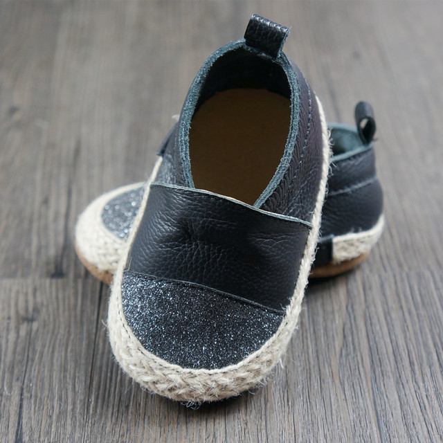 Genuine Leather bling Baby Moccasins Baby Shoes Chaussure Bebe newborn Suede boys girls shoes Cow Muscle bottom First Walkers