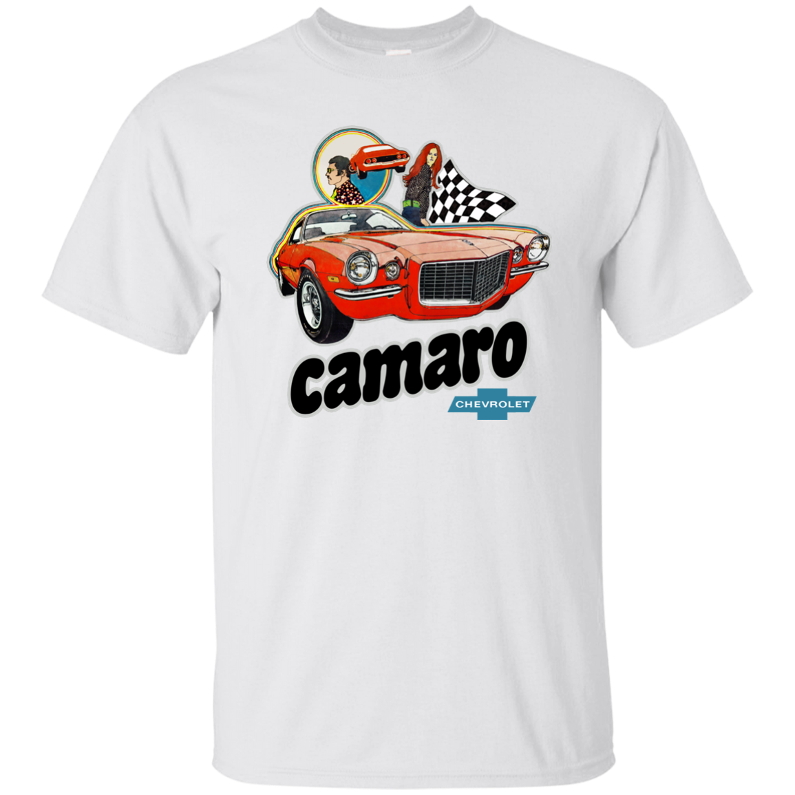 Chevy Camaro, Chevrolet, Heavy Chevy, Muscle Car, Retro, 1960's, 1970's, T-shirt Harajuku Tops Fashion Classic Unique