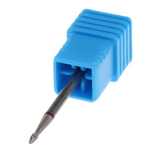 Bullet Tungsten Carbide Burrs Nail Drill Bit 0.1inch Rotate Bits For Manicure Nail Drill Pen Machine Accessories Milling Cutter