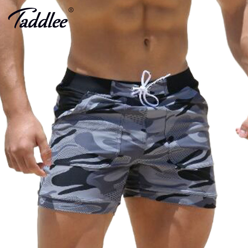 Taddlee Brand Sexy Mens Swimwear Swimsuits Man Plus Big Size XXL Spandex Beach Long Board Shorts Boxer High Rise Cut Trunks Men ...