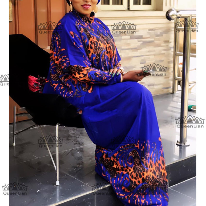 2019 New African Loose  Design  Chiffon Long Sleeve  Dashiki Dress For Lady  XFCX#