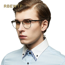 RBEWTP Alloy Anti Blue light Computer Goggles led Reading Glasses Radiation resistant Glasses Gaming Glasses Frame