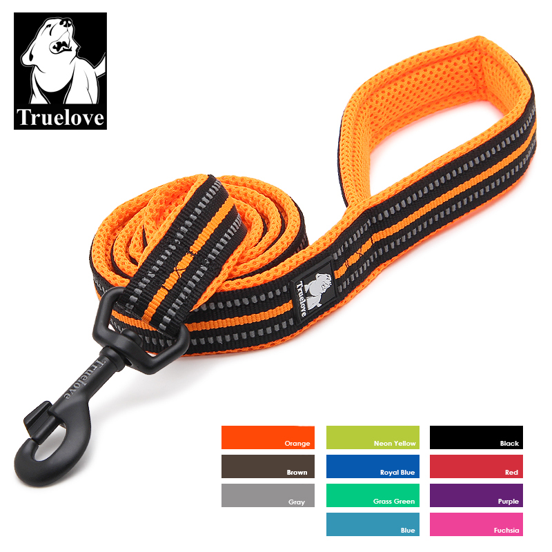 Truelove Soft Dog Pet Leash i Harness and Collar Reflekterende Nylon Mesh Walking Training 11 Farge 200cm TLL2112 Dropshipping