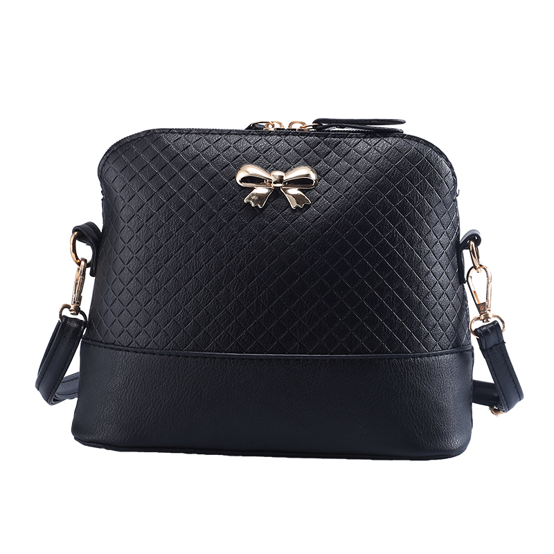 New Vintage PU Leather for Women Bags Fashion Small Shell Bag With Bowknot Ladie