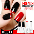 Azure Beauty 4 PCS Gel Polish Nail 12ml Gel Polish UV Lamp Farah Red Series Nail Varnish Long Lasting UV Gel 4Colors