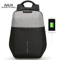 Markryden New Anti Thief USB Recharging Laptop Backpack Hard Shell No Key TSA Customs Lock Design