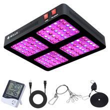 Phlizon LED צמח לגדול אור 600W 1200W פנל ספקטרום מלא לגדול מנורת לחממה פריחה וירקות