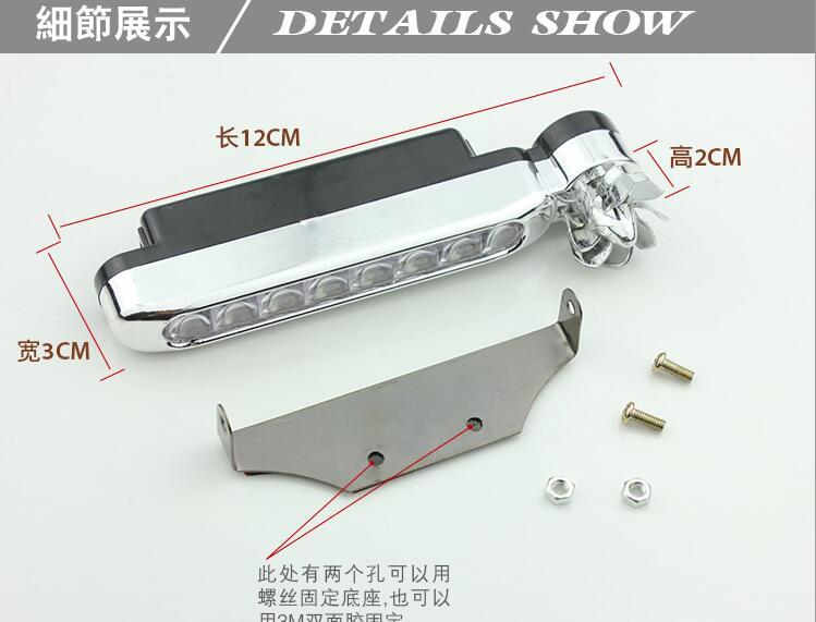 2pair 8 x LEDs No Wiring Wind Power Grille Vehicle Lights With for Suzuki Jimny The Kizashi Grand Vitara SX4 VITARA Works Baleno