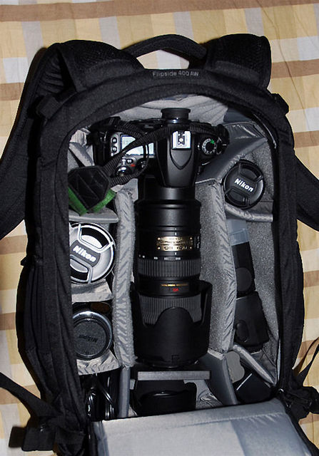 Wholesale Gopro Lowepro Flipside 400 AW Digital SLR Camera Photo Bag Backpacks with Weather Cover waterproof 2