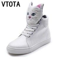 VTOTA Fashion Women Casual Shoes Height Increasing Platform Shoes High Top Graffiti Canvas Shoes Zapatos De