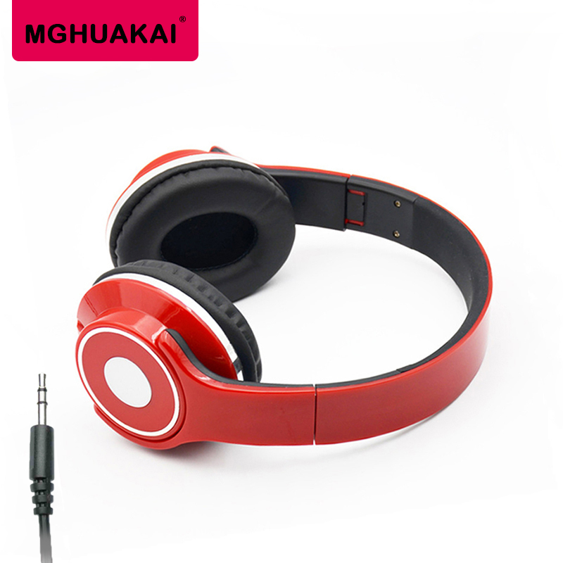 MGHUAKAI Sport Gaming Headphones Wired Stereo Mic Headset Casque Audio Big Earphone For Mobile Phone Mp3 Mp4 Pc Ps4 hifi head casque audio big wired gaming earphones for phone computer player headset and headphone with mic auricular pc kulakl k