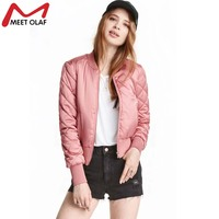 Women Spring Bomber Jacket Plus Size Womens Casual Loose Basic Cotton Outwear Solid Coats Short Female