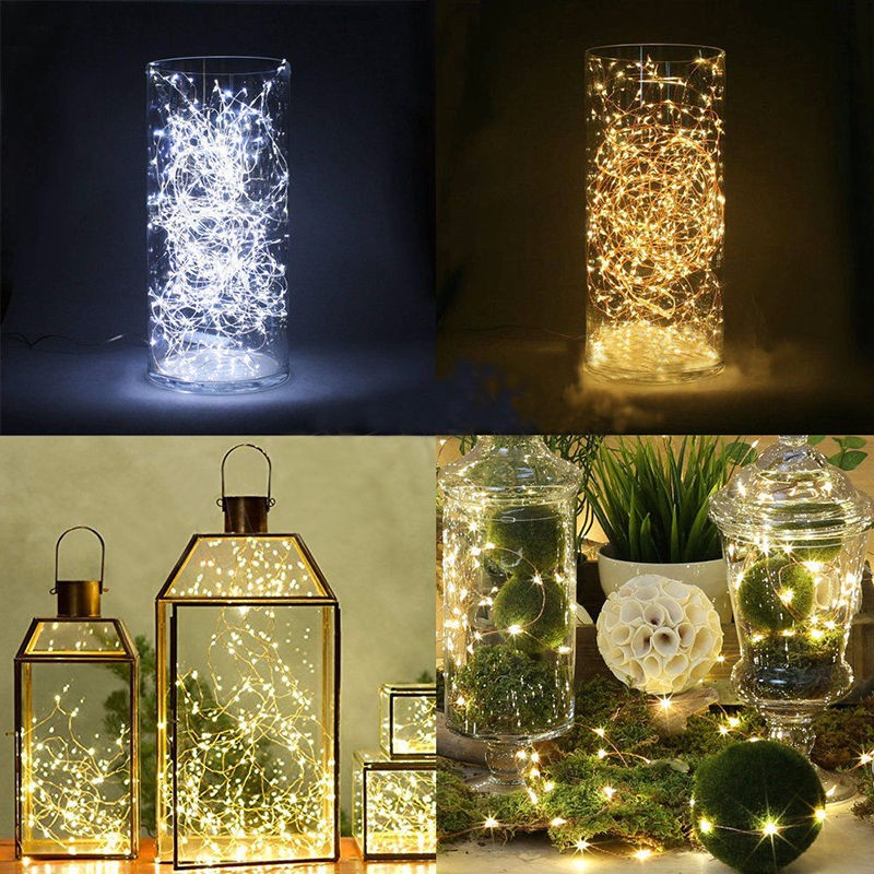 Waterproof Mini LED String Light Fairy Lights Outdoor Indoor Lamp For Christmas Holiday Party Garden Bedroom Wedding Decoration