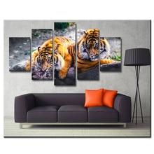 5PCS Diamond Embroidery Tigers Multi-picture