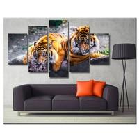 5PCS Diamond Embroidery Tigers Multi picture