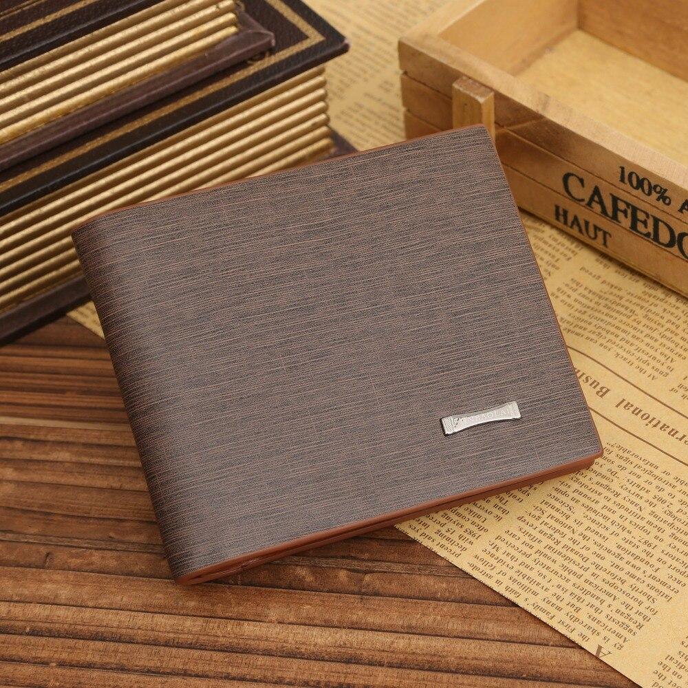 Тонкий короткий дизайнер Элитный бренд Малый walet cuzdan Валле модные Для мужчин бумажник мужской кошельки сумка держатель для карт деньги монеты portomonee