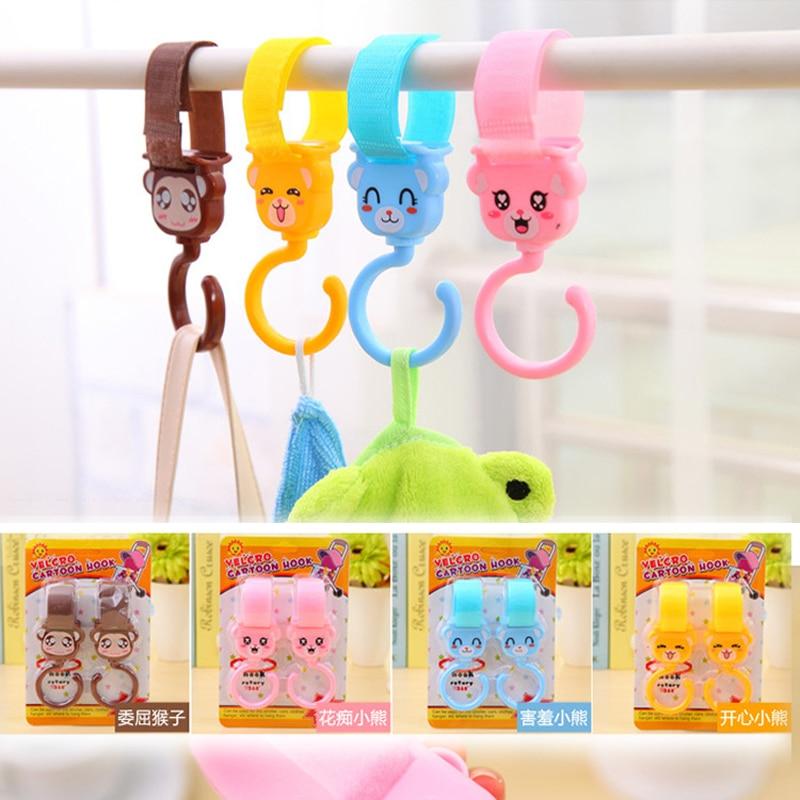 4pcs Multi Purpose Cangkuk Hange Baby Toys hook hooker Cangkuk hanger Lovely Plastic Baby Stroller Pram Pushchair