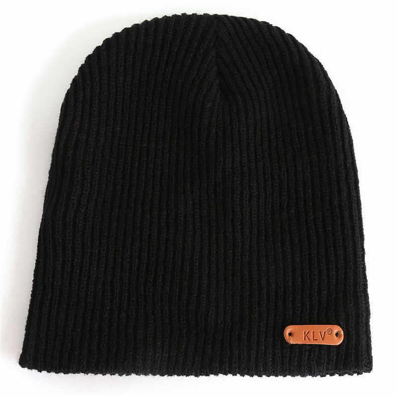 Beanie muts muts Mannen Vrouwen Baggy Warm Haak Winter Wol Knit Ski Beanie Skull Slouchy Caps Hoed billie eilish hoed 2019