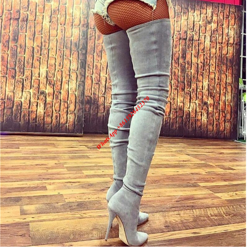 Popular Grey Thigh High Boots-Buy Cheap Grey Thigh High Boots lots ...