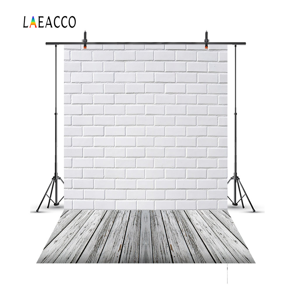 Laeacco Brick Wall Wooden Floor Portrait Newborn Baby Photography Backgrounds Customized Photographic Backdrops For Photo Studio