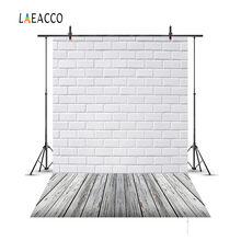 Laeacco Brick Wall Wooden Floor Portrait Newborn Baby Photography Backgrounds Customized Photographic Backdrops For Photo Studio(China)