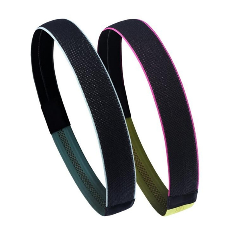 Fitness marathon headband GYM Sweat Hoop Bandana Bezel Bike Sport Headwear Silicone Soft Hollow Thin dry Cycling Headbands 2018