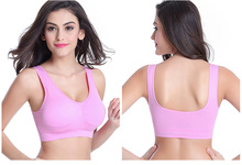 YG592 Zero bound plus sizes without rims non-trace adjusted yoga sports bra one piece model underwear bra