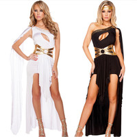 2017 new high quality Cleopatra Masquerade Party Dress Greek Goddess Cosplay clothing Adult Egyptian Queen Costume Halloween