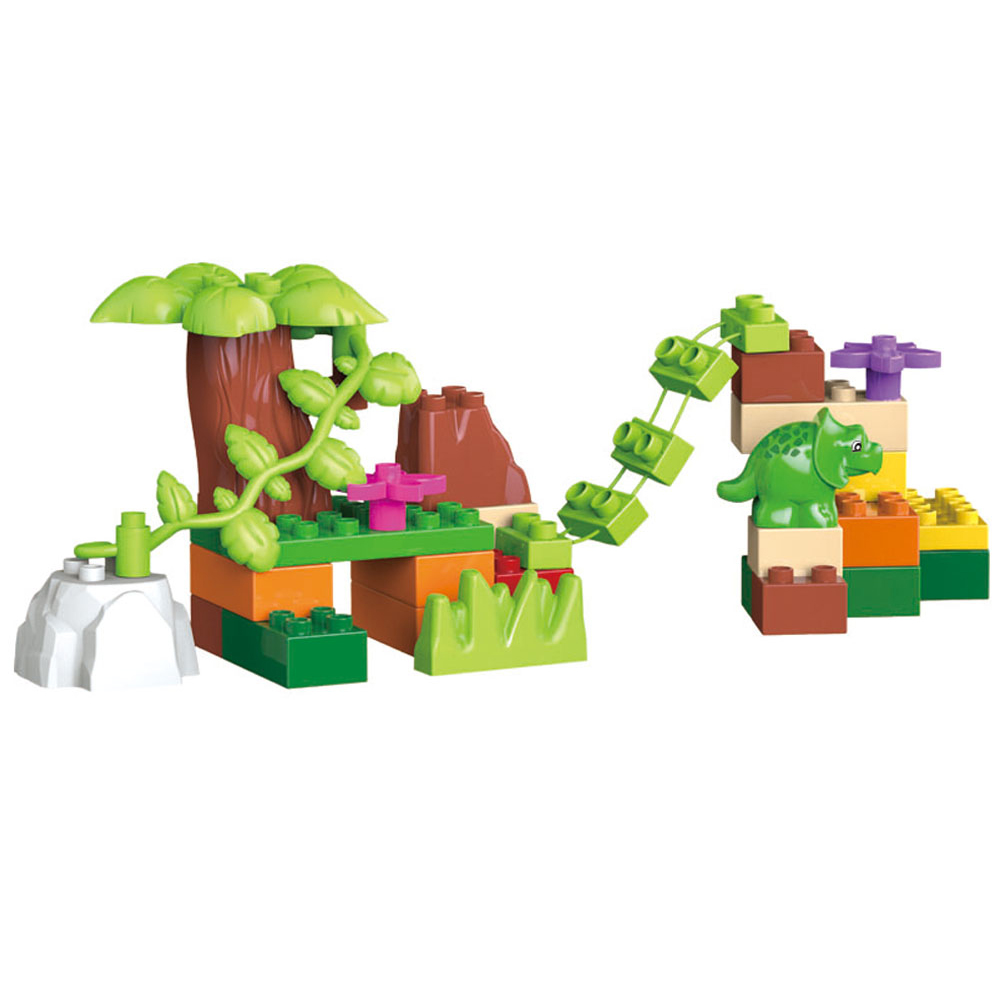 40pcs legoeINGly Duplos Jurassic World Dino Valley Building Blocks - Bygg og teknikk leker - Bilde 4