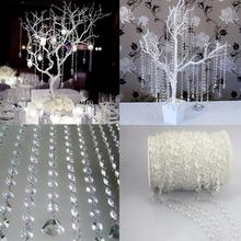 30M Acrylic Crystal Bead Curtain Garland Diamond Wedding DIY Party Decor Home Living Room Bedroom Decoration Rhinestone Curtain