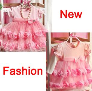 Nuevo tutú del bebé formal party dress puff recién nacido niña rosa princesa vestidos de novia para bebé envío gratis