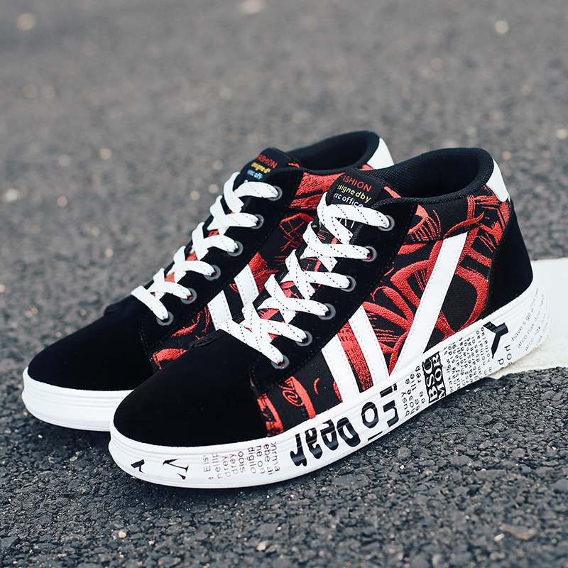 Graffiti Shoes Woman Fashion Vulcanized Light Breathable Canvas Woman Casual Shoe Women Sneakers Lovers Shoe 35-44 brand quality the walking dead canvas shoes printed women casual flat shoes diy couples and lovers valentine gifts graffiti shoe