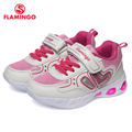 FLAMINGO marca moda LED tamaño 23-29 cómodos zapatos para niños primavera transpirable gancho y lazo zapatillas para niños para niñas 91K-KS-1232