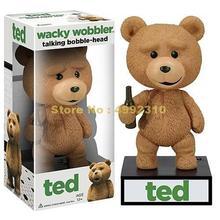 Figura de acción de teddy speak, ted wobbler, cabeza bobble, juguete de 15cm en pvc