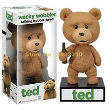 Teddy speak talking ted wacky wobbler bobble head pvc figurka 15cm zabawka