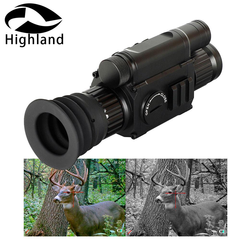 Lunette de chasse jour et nuit PARD NV008 lunette de Vision nocturne numérique caméra monoculaire IR avec pointeur Laser pour l'extérieur
