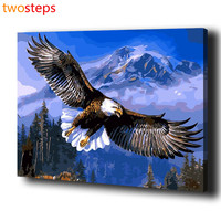 Diy Digital Canvas Oil Painting By Numbers Eagle Animal Pictures Coloring By Numbers Modern Large Acrylic