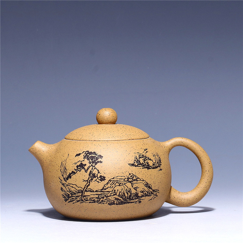 180ml Authentic Chinese Kungfu Ceramic teapot Yixing purple clay Zisha tea pot pu'er tea black tea gift Wholesale Free shipping