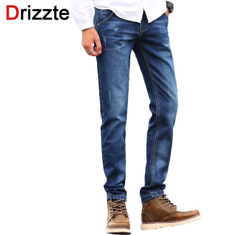 76dfc3bd5f5 Drizzte Fashion Mens Jeans Scratch Stretch Blue Denim Men Slim Fit Jean  Size 30 32 34 35 36 38 Pants Jean on Aliexpress.com