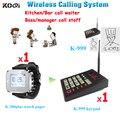 Wireless camarero sistema de llamadas para cocina con y servicio inalámbrico fácil de operar 1 unids K-999 y 1 unids K-300plus