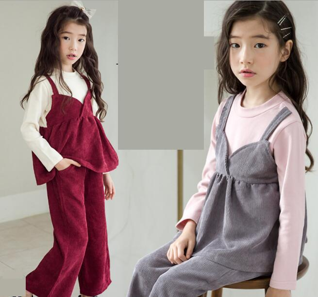 2018 Toddler Girls Tops Long Sleeve T-Shirts + Pants Cotton Cute Outfits Clothing Set Toddler Kids Baby Girls Clothes Sets 10 12