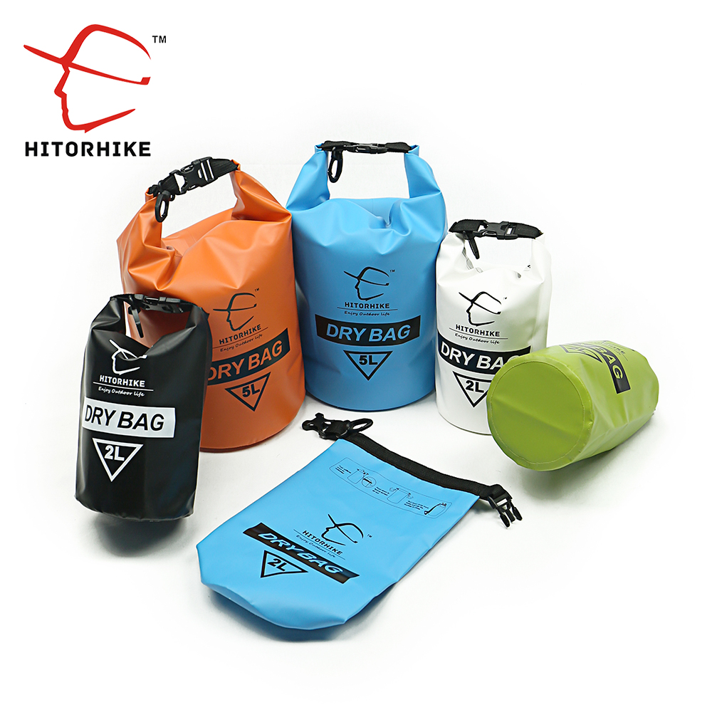 Hitorhike Ultralight Swimming Bag Dry 6 Colors Outdoor Nylon Kayaking River Storage Drifting PVC Waterproof Rafting Bag 2L 5L