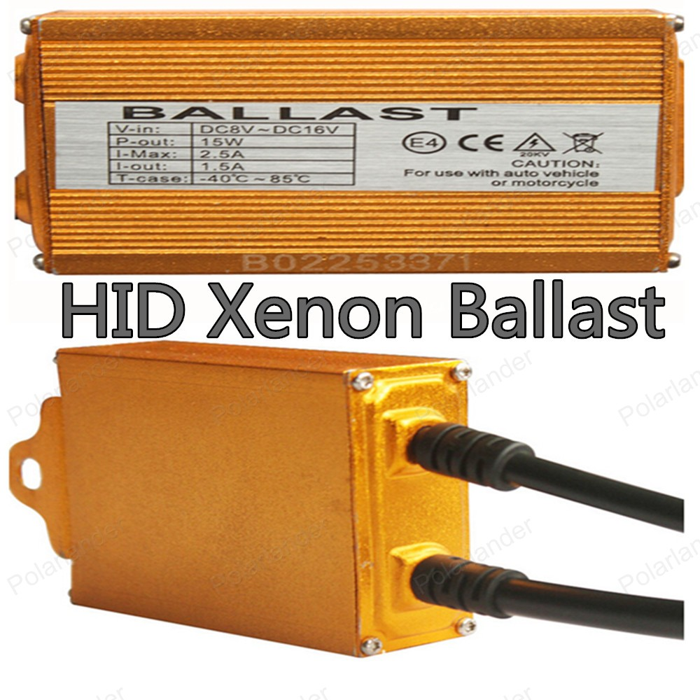ФОТО Polarlander 2pcs New Gold Ballast Digital Slim for all any hid lamps 12V 35W HID Xenon Ballast